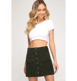 The Living In The Moment Corduroy Mini Skirt