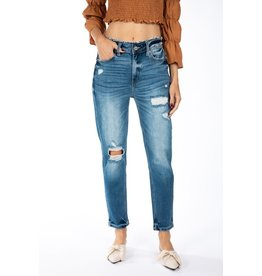 The Davis High Rise Distressed Boyfriend Jeans
