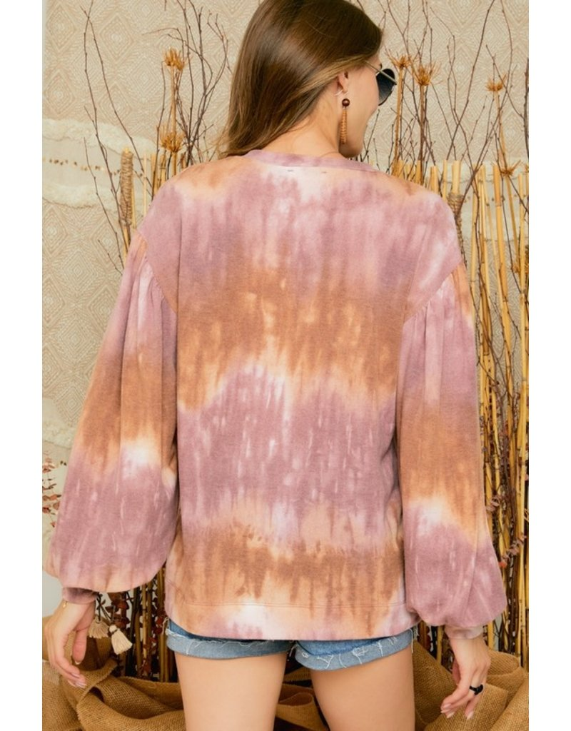 The August Sunsets Tie Dye Top
