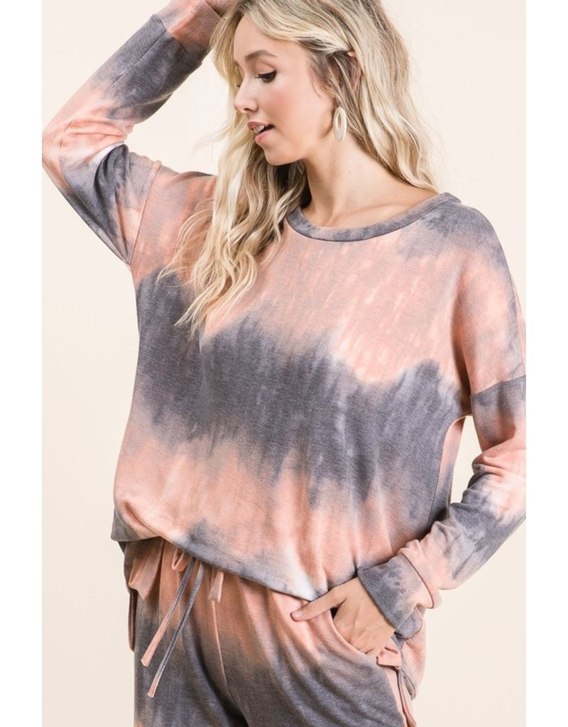 Uniquely Me Tie Dye Terry Knit Pullover