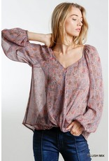The Sweetheart Sheer Floral Print Blouse