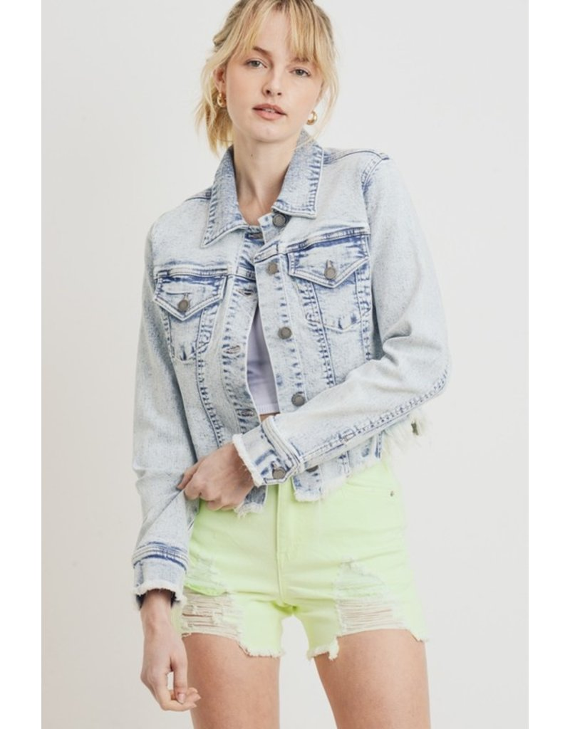 The Be A Rockstar Acid Wash Denim Jacket
