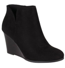 Soda Walk This Way Wedged Bootie - Black