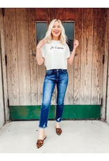 Je t'aime Cropped Graphic Tee