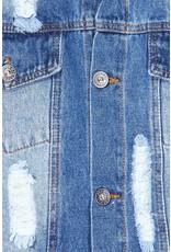 The Denim Daze Distressed Cropped Jacket