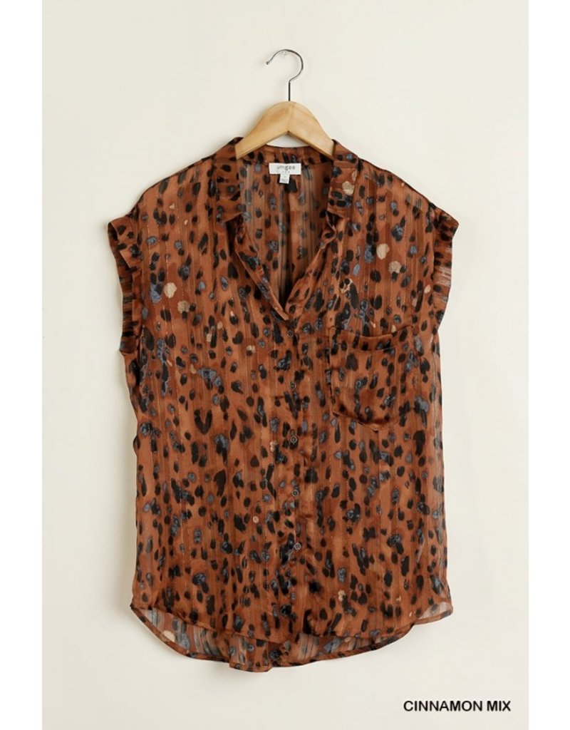 Creative Fun Spotted Button Up Blouse