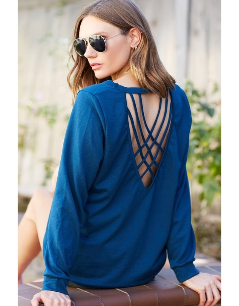 The Closer To My Heart Criss Cross Back Top