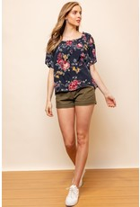 Bountiful Floral Print Top