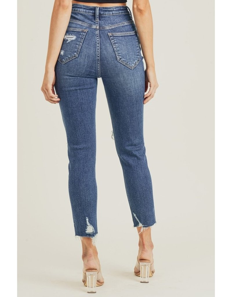Risen Debbie Distressed Mom Jeans
