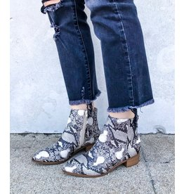 Soda Snake Eyes Ankle Bootie