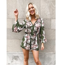 The Blooming Beauty Bell Sleeve Romper