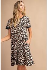 Feisty Leopard Print T-Shirt Dress