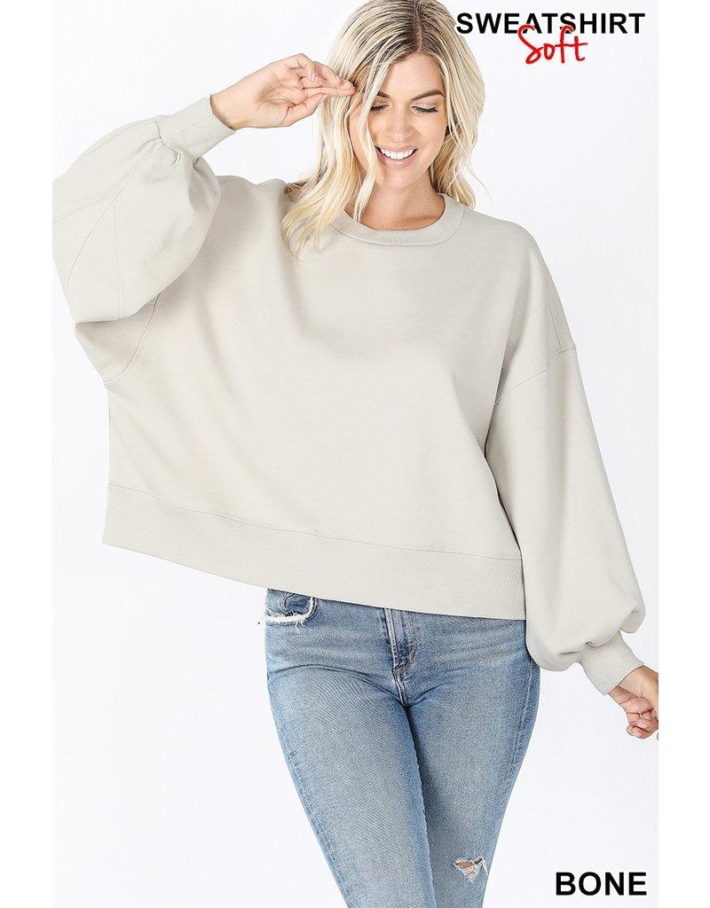 The Chilly Nights Balloon Sleeve Sweatshirt