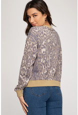 The Wishing To See You Leopard Print Pullover