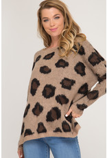 She & Sky Nothing But The Best Leopard Print Sweater