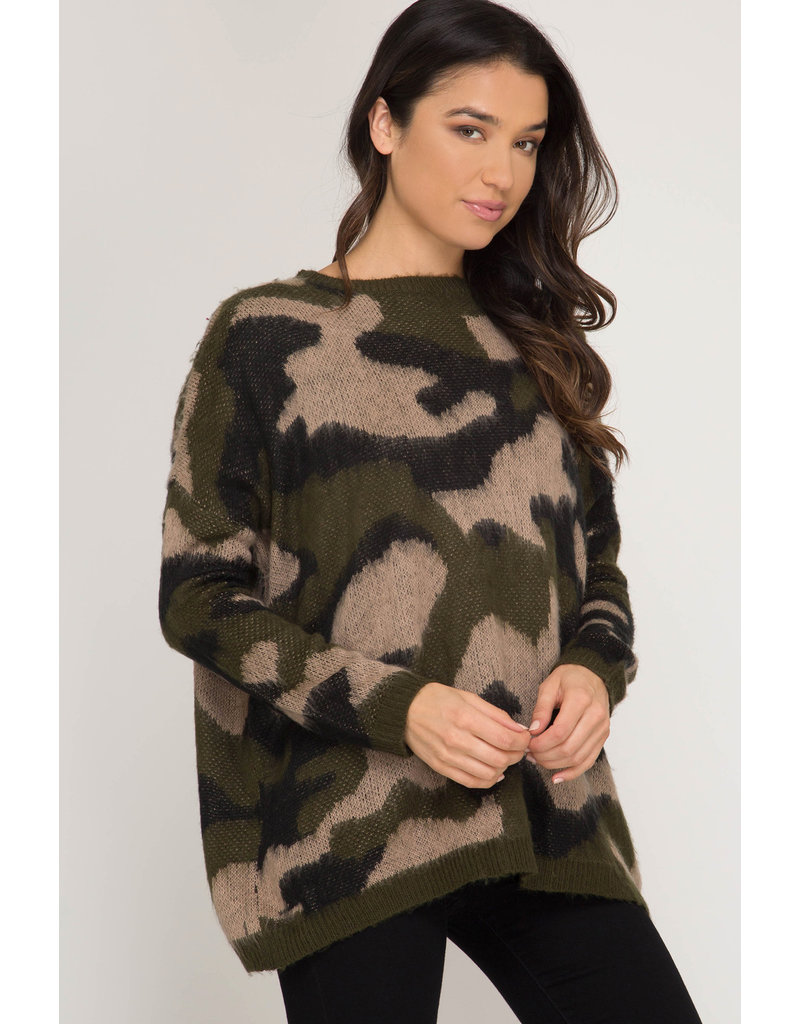 The Nothing But The Best Camo Sweater