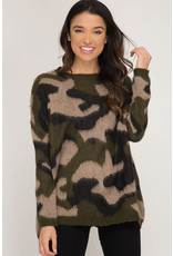 Nothing But The Best Camo Sweater