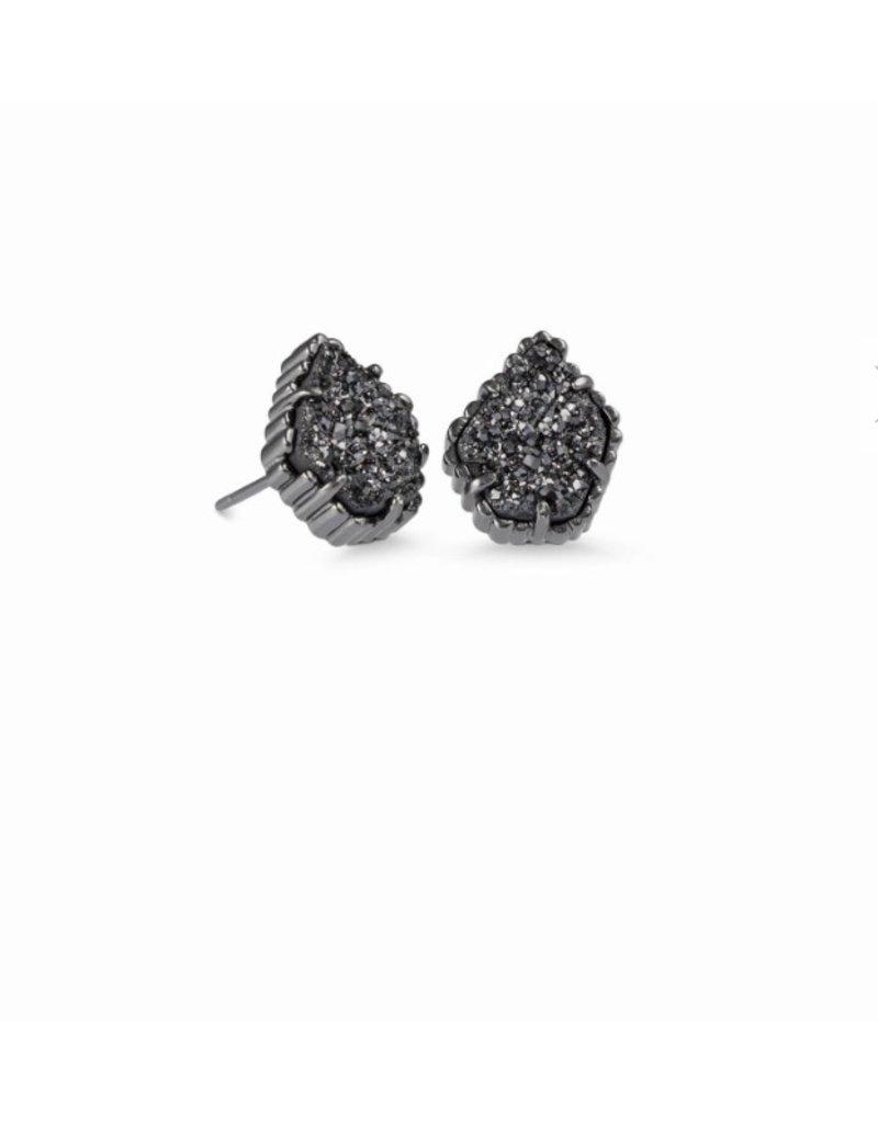 Kendra Scott Tessa Gunmetal Stud Earrings In Black Drusy