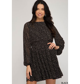 Twirling All Night Pleated Dress