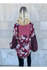 Ruth Floral + Leopard Print Top