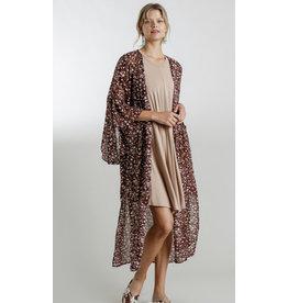 The Off To Anywhere Animal & Gold Kimono