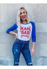 The Kansas Jayhawks Raglan Sleeve Top