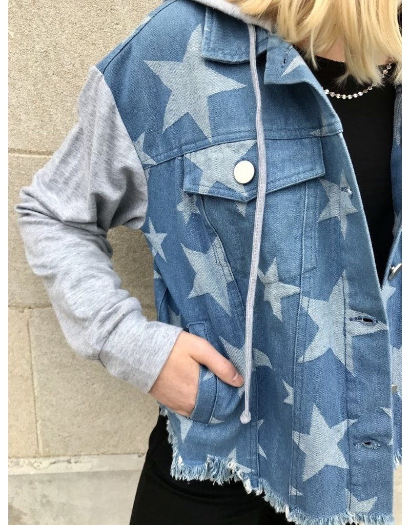 Entro Stargaze Hooded Denim Jacket