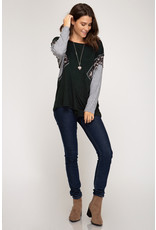 The Down For Anything Color Block Top
