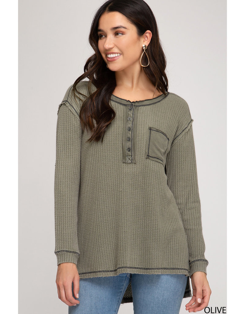 The Ian Long Sleeve Thermal Knit Top
