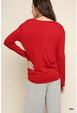 By Heart Front Tie Top