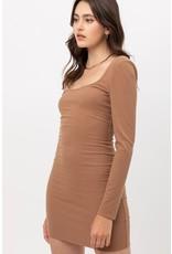 The Calabasas Ribbed Bodycon Dress