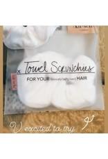 The Kitsch Microfiber Towel Scrunchies - White