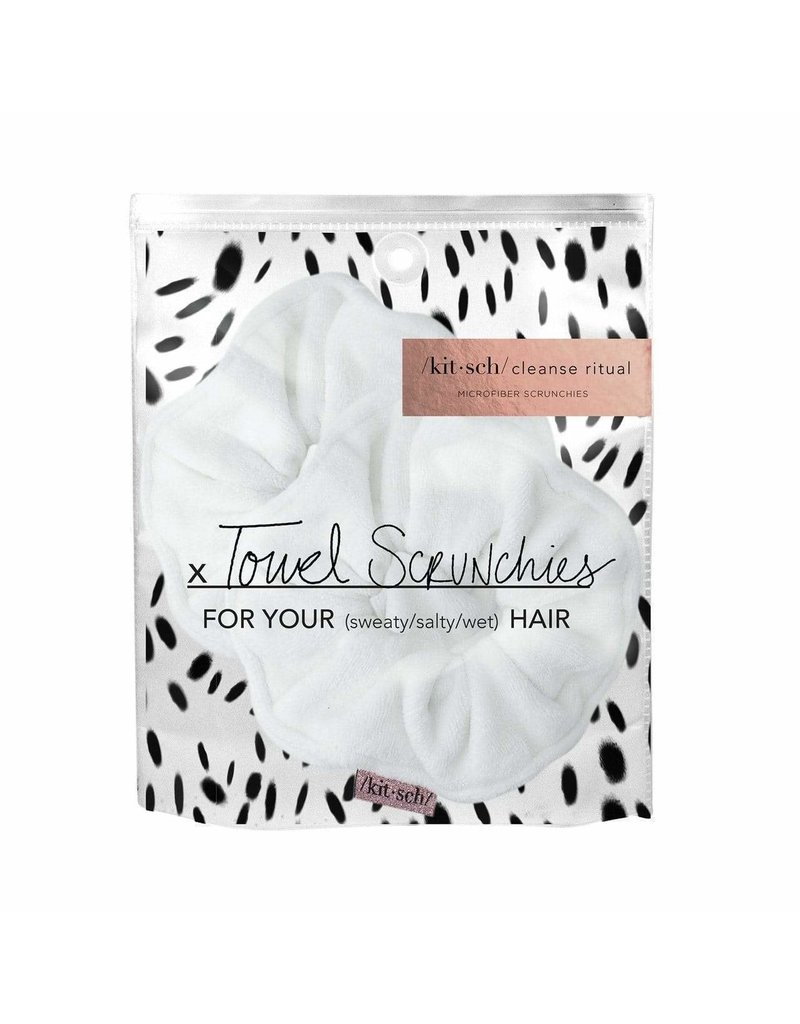 The Microfiber Towel Scrunchies - White