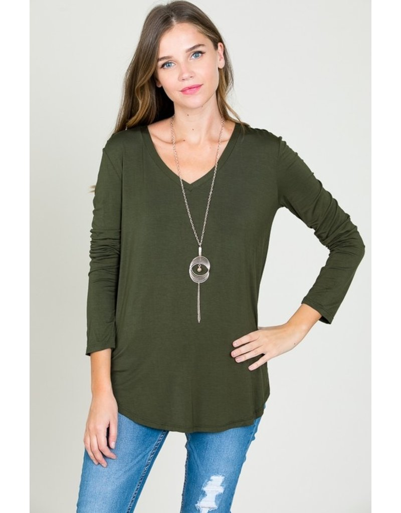 The Must Have V-Neck Long Sleeve Top