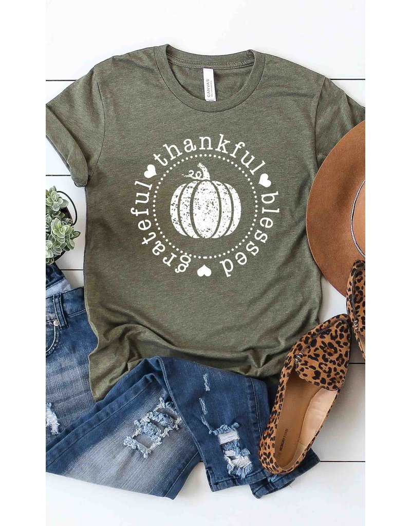 The Grateful Thankful Blessed Graphic Tee