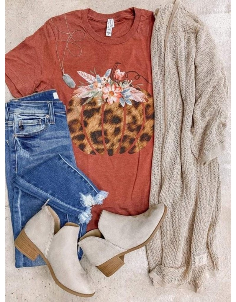 The Leopard + Floral Pumpkin Graphic Tee