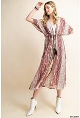 The Houdini Snake Print Chiffon Duster Kimono