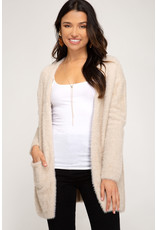 So This Is Love Fuzzy Knit Cardigan