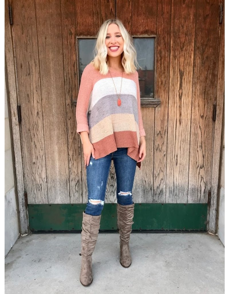 The What You Need Most Color Block Knit Sweater