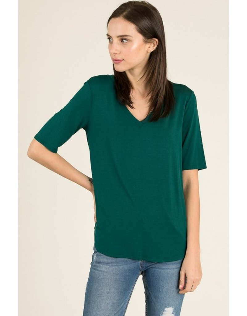 The Must Have V-Neck Half Sleeve Top
