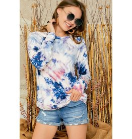 The A Feeling Like This Tie Dye Top