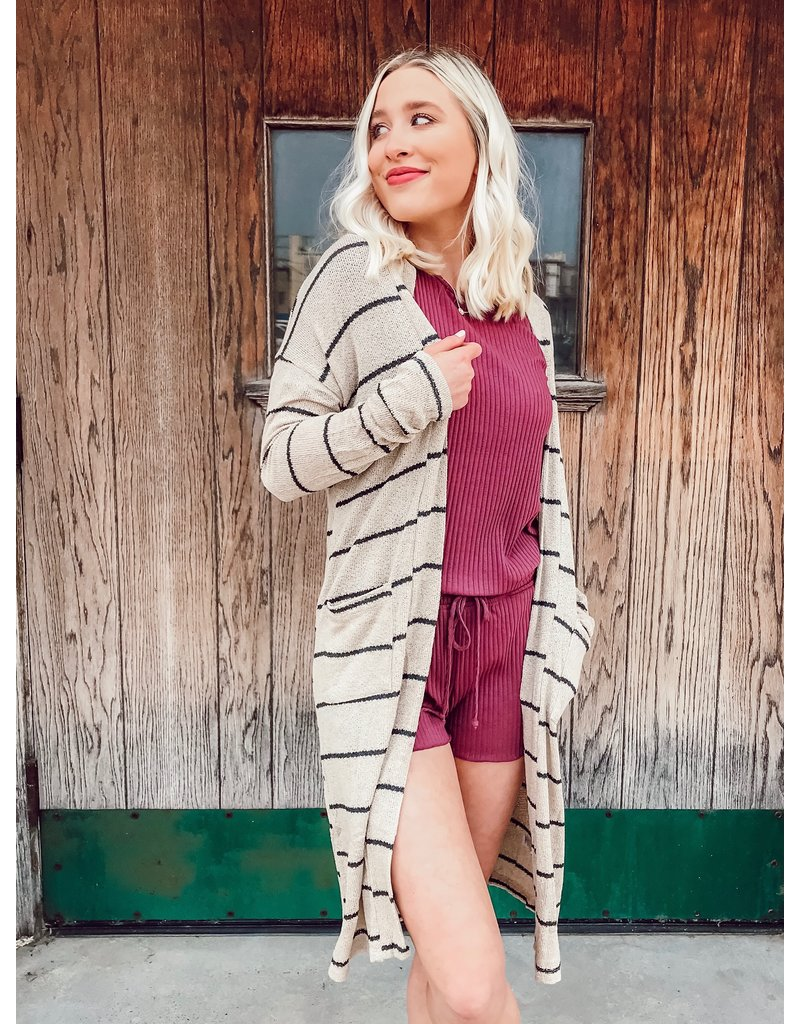 The Reliving The Romance Striped Duster Cardigan