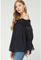 The Kiss The Stars Off The Shoulder Top