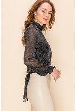 The Leave A Sparkle Mock Neck Top