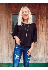 The Jess Bubble Sleeve Crinkle Top