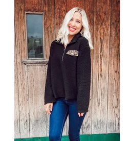 The Hello My Love Sherpa Quarter Zip Pullover