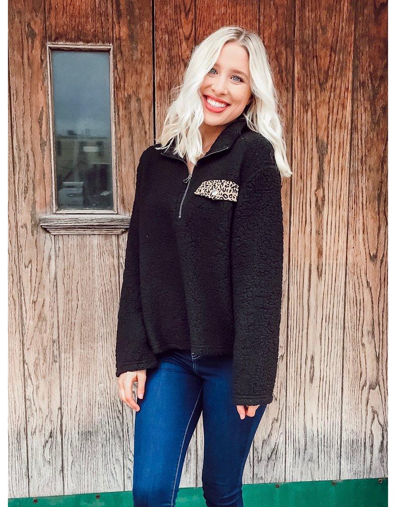 The Hello My Love Sherpa Quarter Zip Pullover
