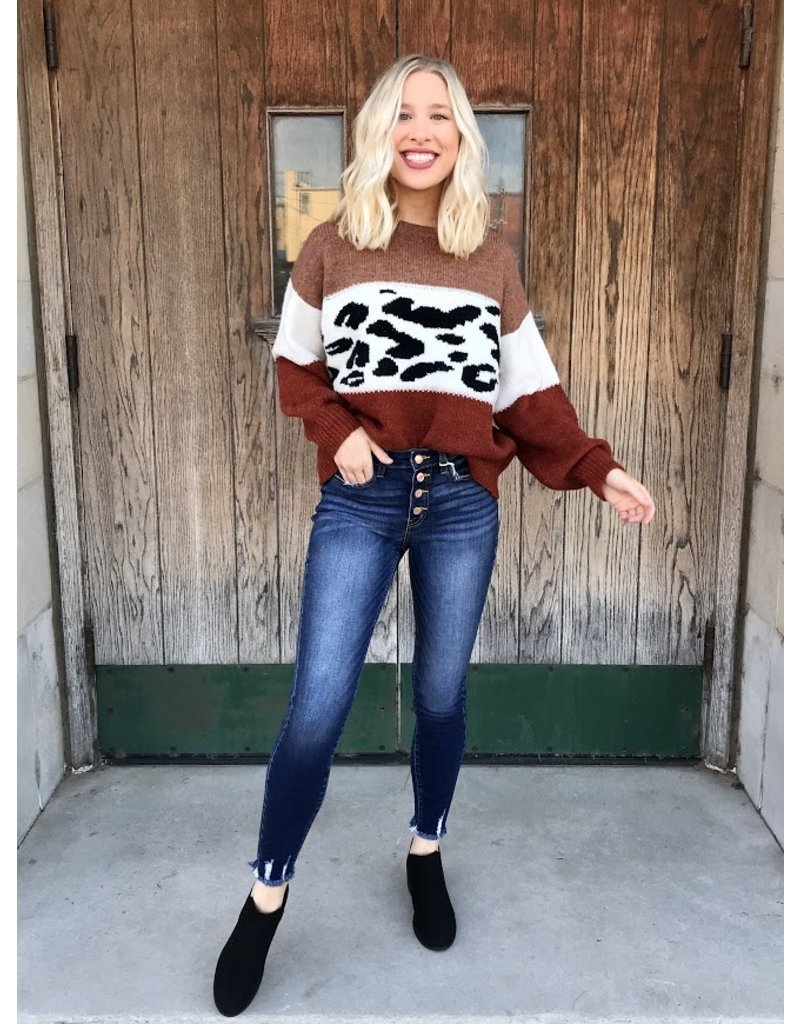 The Bold Beauty Color Block Sweater