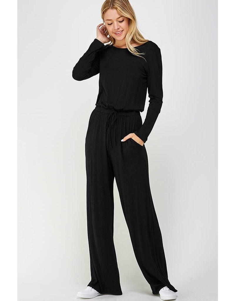 The Just My Type Jumpsuit - Black