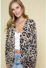 The New Cat On The Block Leopard Print Cardigan